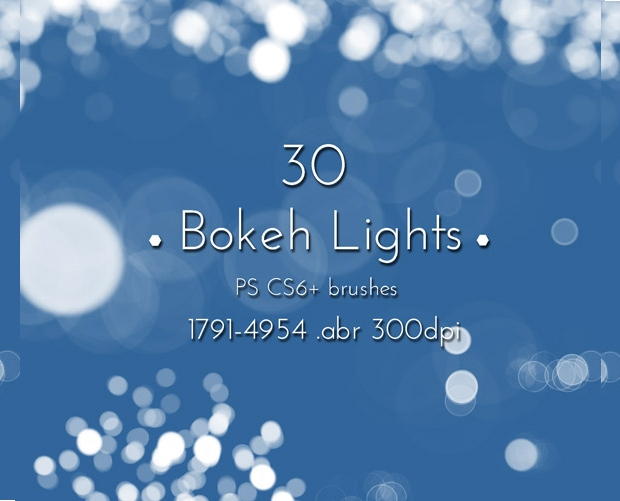 bokeh lights effect photoshop brushes
