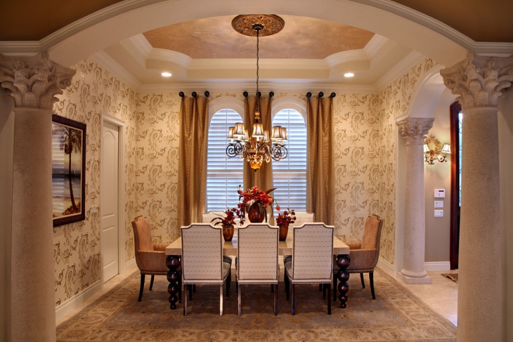18 dining room ceiling light designs ideas design for Formal dining room ideas