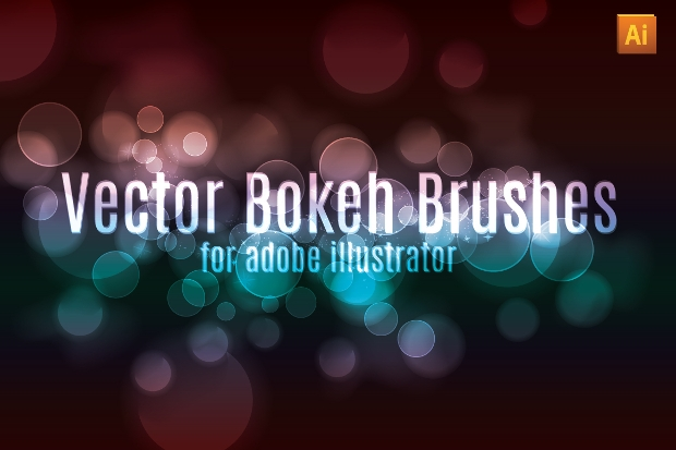 colorful bokeh effect brushes