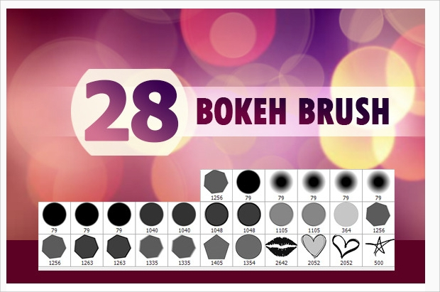 abstract bokeh brushes