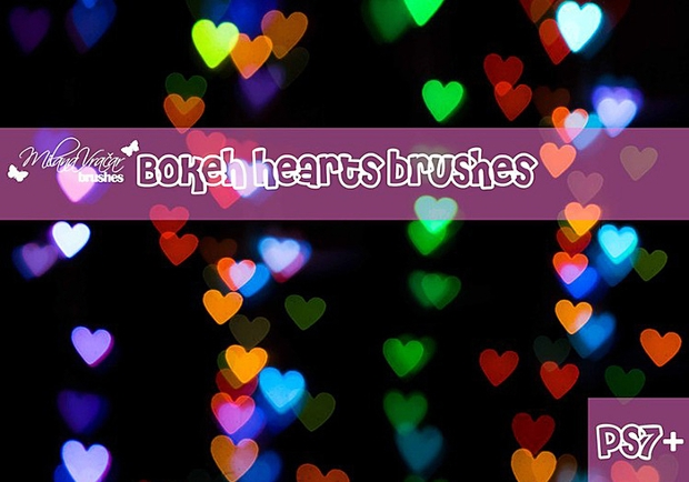 heart bokeh brushes