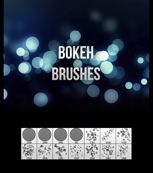 abstract light bokeh brushes