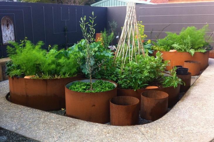container foliage garden