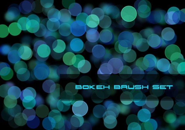 green and blue bokeh brushes
