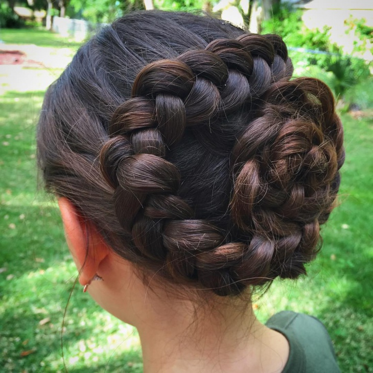 dutch flower braid hairstyle