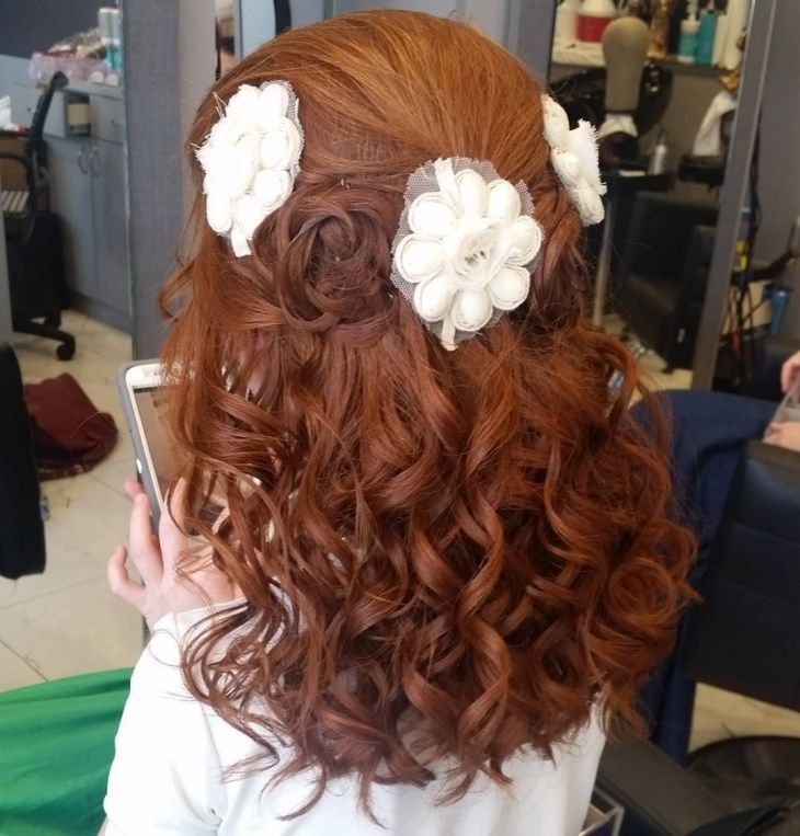 flower braid wedding hairstyle