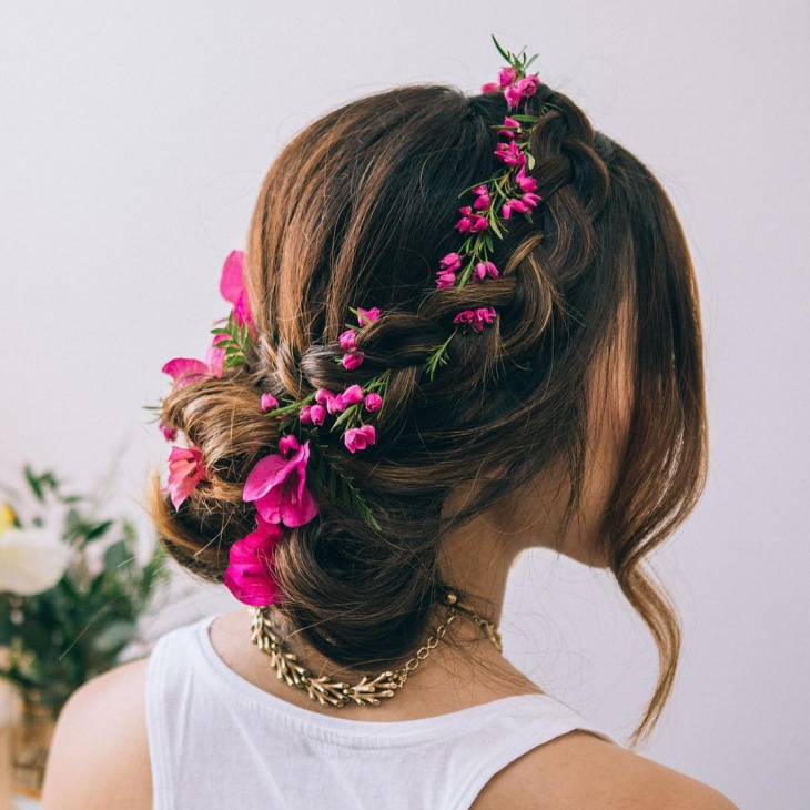 floral braid updo