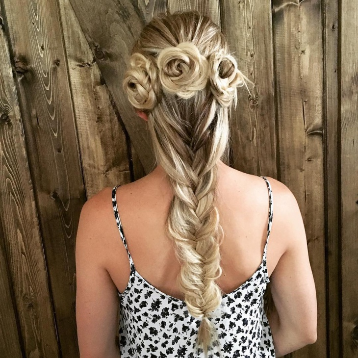 awesome flower braid hairstyle