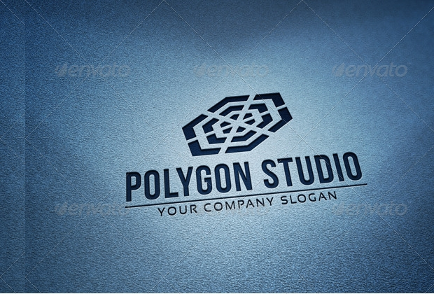 polygon studio logo design