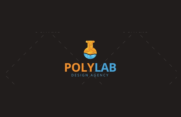 polygon lab logo template