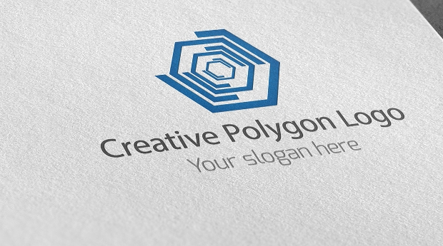 creative polygon logo design