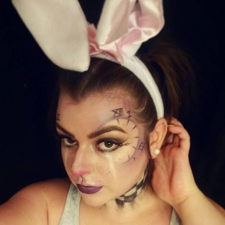 alice in wonderland rabbit makeup