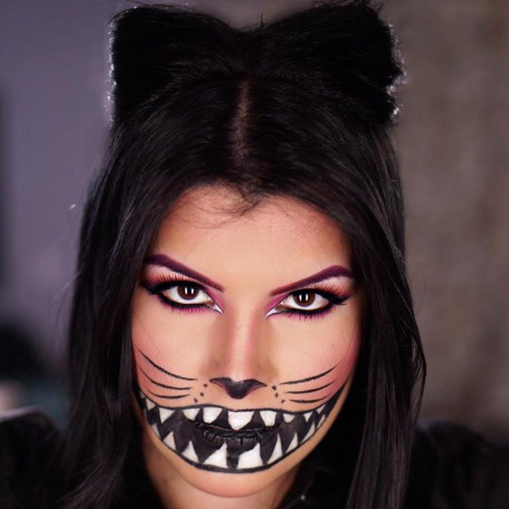alice in wonderland cat makeup