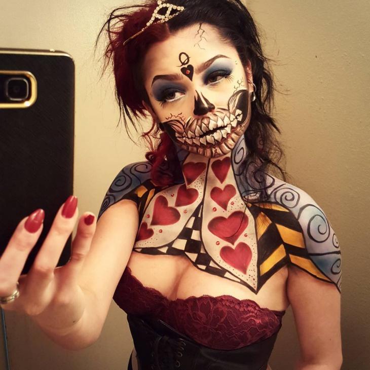 alice in wonderland red queen makeup