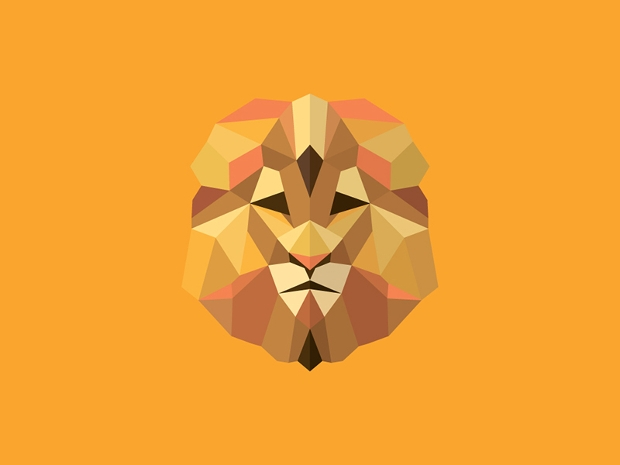 flat animal polygon logo