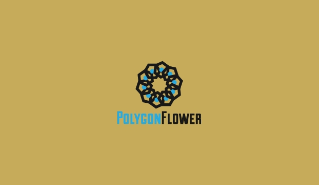 polygon flower logo