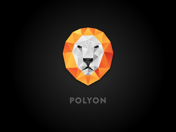 high quality polyon logo