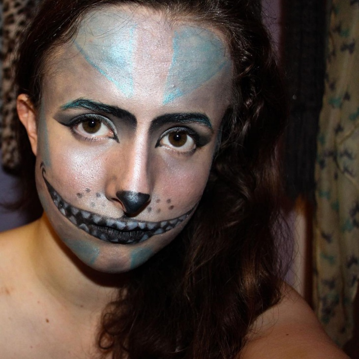 tim burton inspired makeup idea