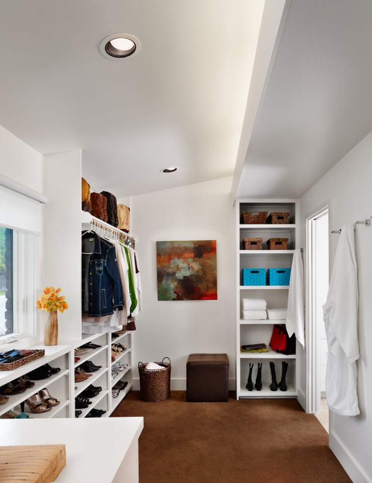 walk in closet shelving idea