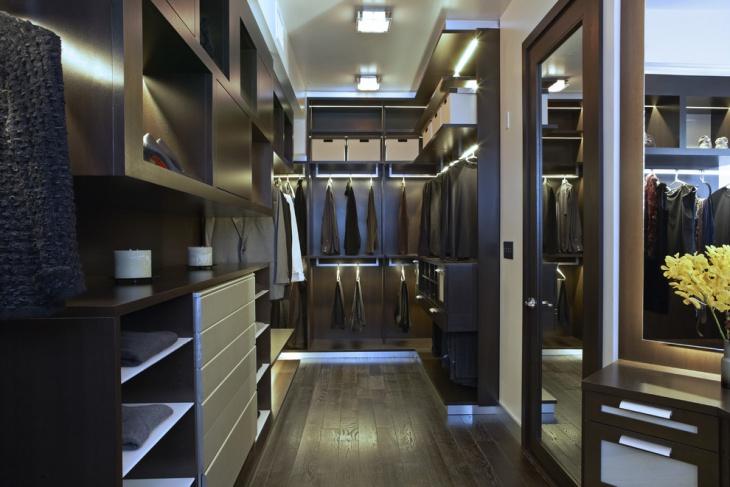 walk in closet lighting design