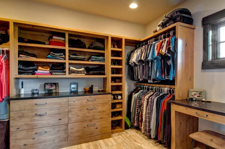 rustic walk closet design