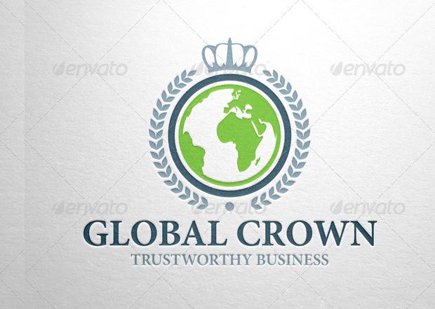 Global Crown Logo Design