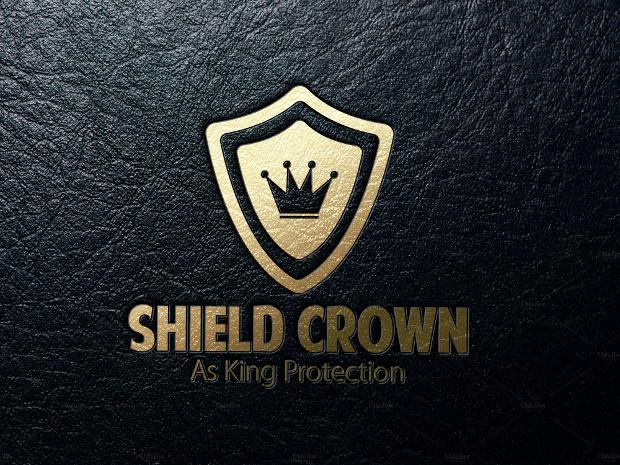 Golden Sheild Crown Logo