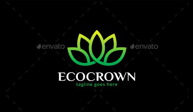 Eco Crown Logo Design
