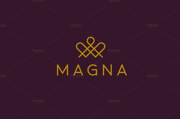 elegant crown premium logo
