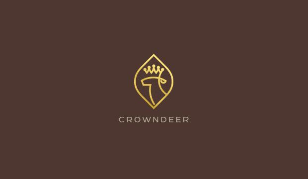 Crown Deer Logo Design