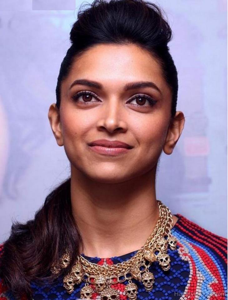 Deepika Padukone Puff Hairstyle for Short Hair