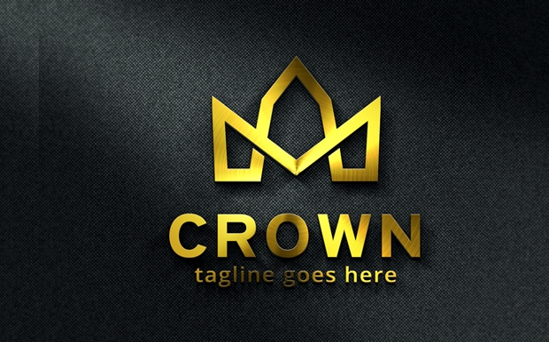 simple crown logo template
