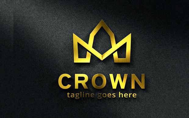 Simple crown Logo Template