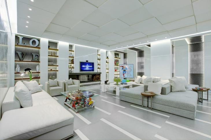 20 living room false ceiling designs design trends - Living room ceiling tiles ...