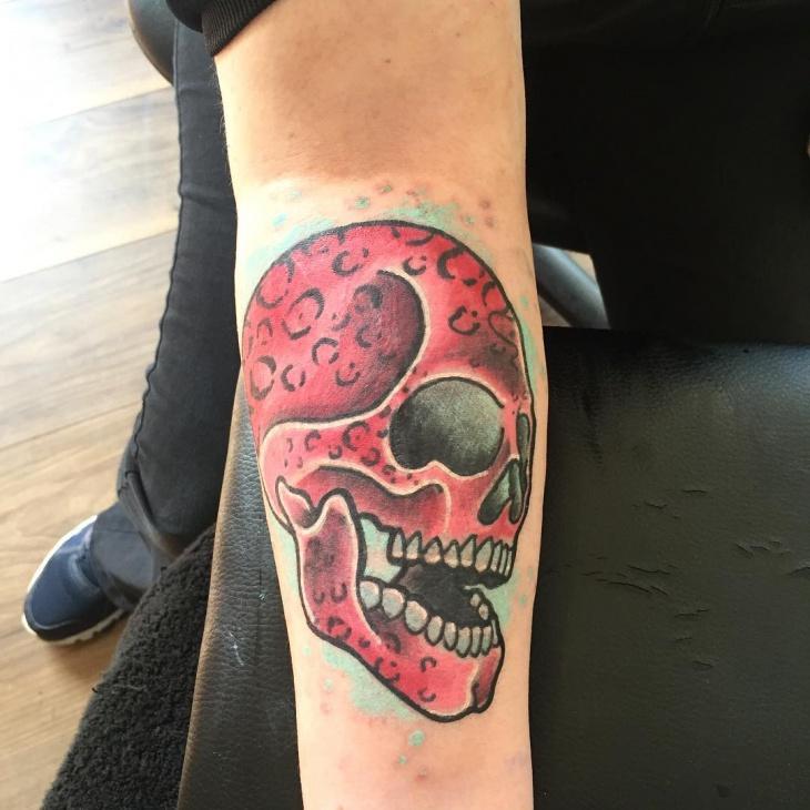 Cheetah Print Skull Tattoo