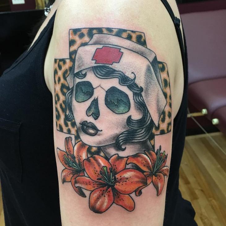 Creative Cheetah Print Tattoo Design
