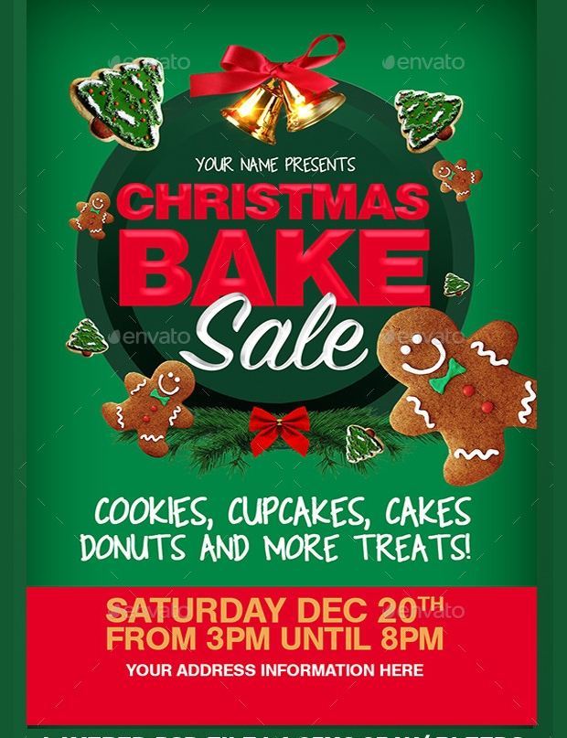 Bake Sale Flyer Templates  Printable Psd Ai Vector Eps Format