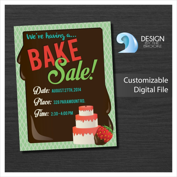 Customizable Bake Sale Flyer