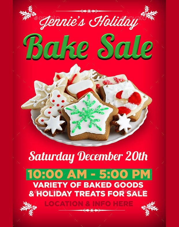 Bake Sale Flyer Template  WowcircleTk