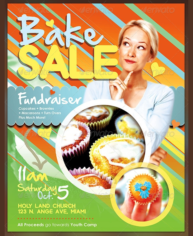 Editable Bake Sale Flyer Design