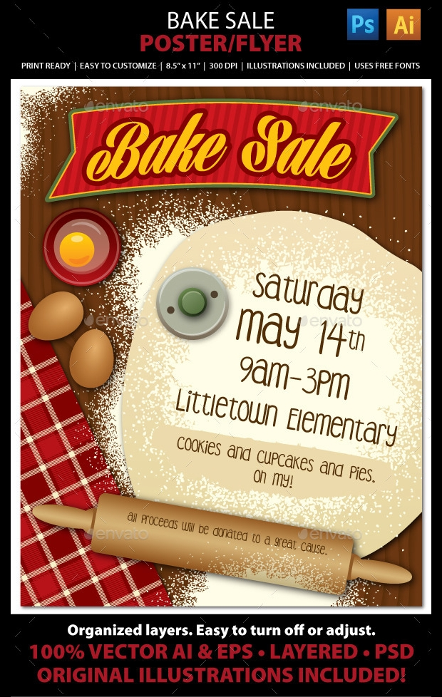 Creative Bake Sale Flyer Template