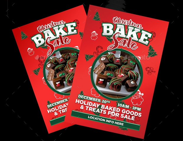 Photoshop PSD Bake Sale Flyer