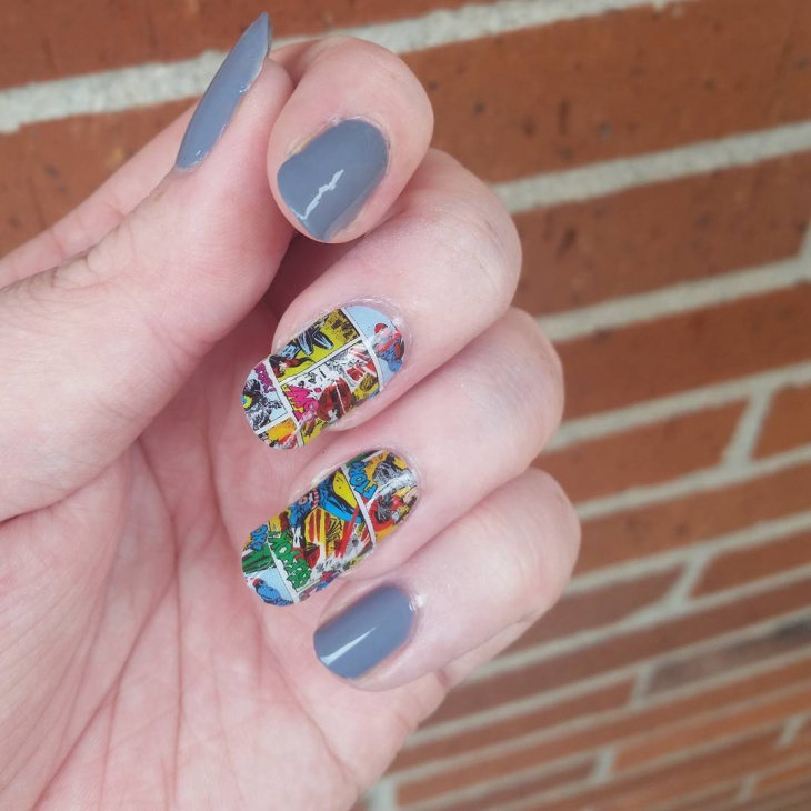 Marvel Nail Art Idea