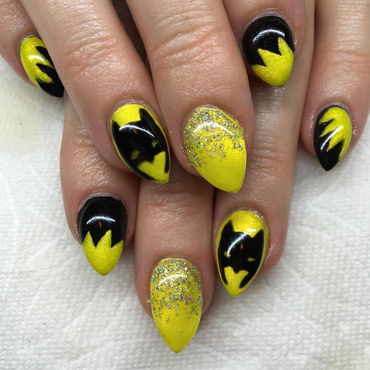 Batman Nail Design