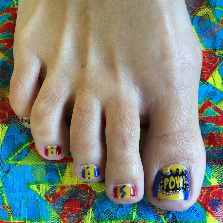 Toe Comic Nail Art