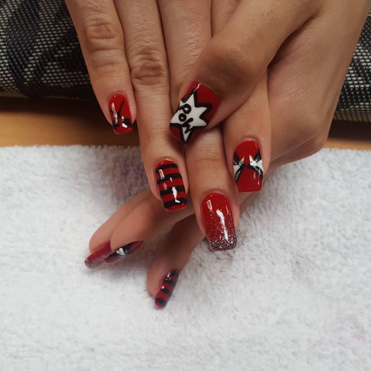 Deadpool Nail Art Idea