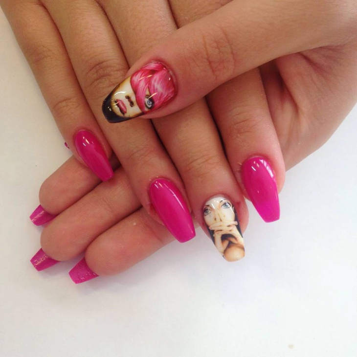 Pretty Comic Nail Design