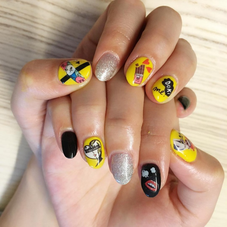 Cute Comic nail Art Idea