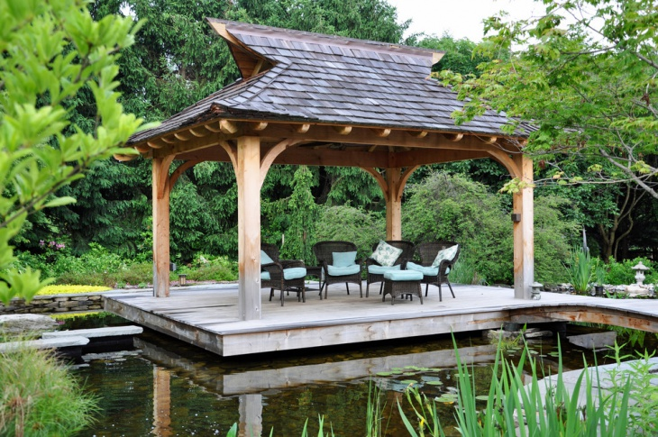 20 floating deck designs ideas design trends premium for Deck pond ideas