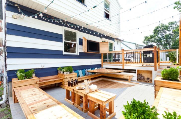diy floating deck design